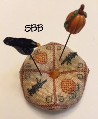 Fern Ridge Collections Scared Crow Pincushion With Pins