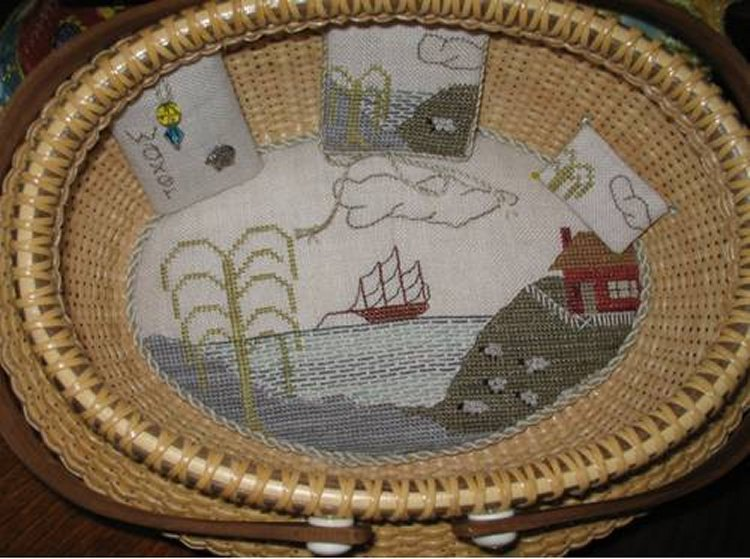Fern Ridge Collections Willow Bay Sewing Set (Does Not Include Basket)
