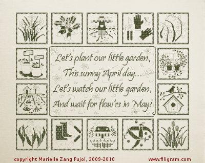 Filigram A02 Let's Plant Our Little Garden