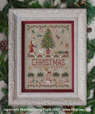 Filigram Here is Christmas