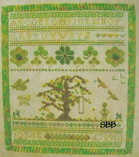 Firecracker Designs Sampler In Green