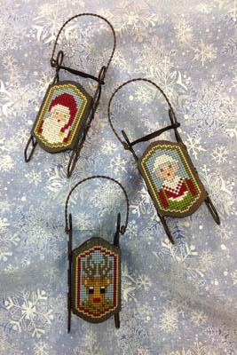 Foxwood Crossings Sled Ornaments ~ Sled Heads