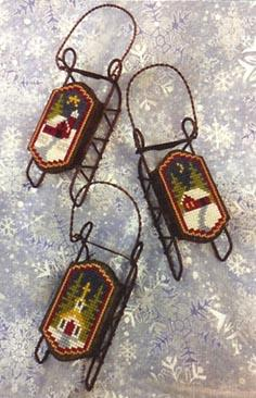Foxwood Crossings Sled Ornaments ~ Snow Country Sleds