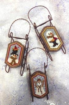 Foxwood Crossings Sled Ornaments ~ Snow Grateful Sleds