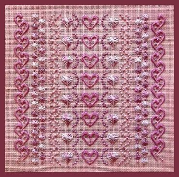 Freda's Fancy Stitching More Rose On Rose