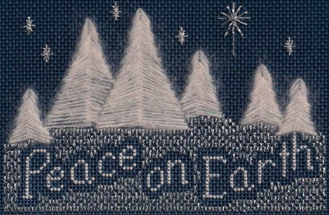 Freda's Fancy Stitching Peace On Earth