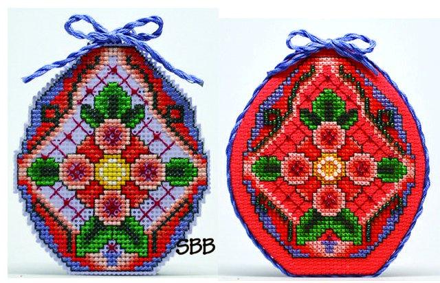 Frony Ritter Designs Flower Cross Egg