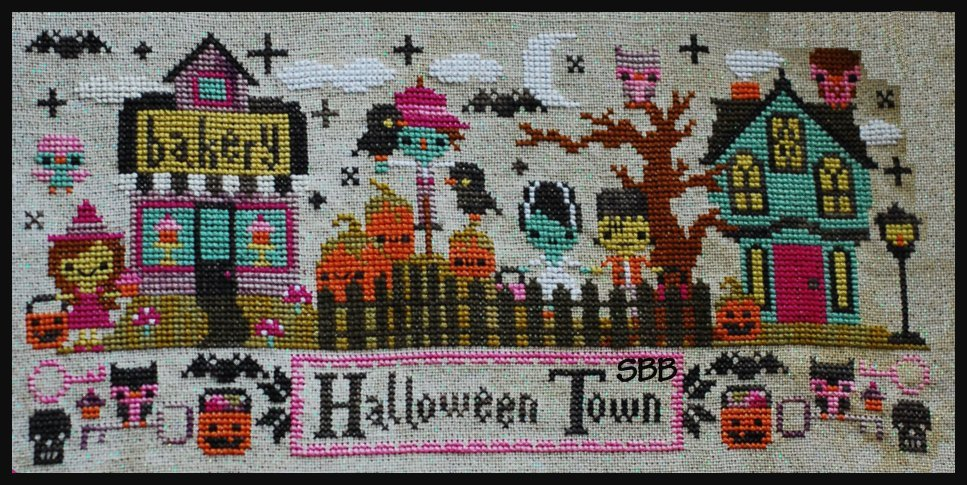 Frosted Pumpkin Stitchery Mysterious Halloween Town