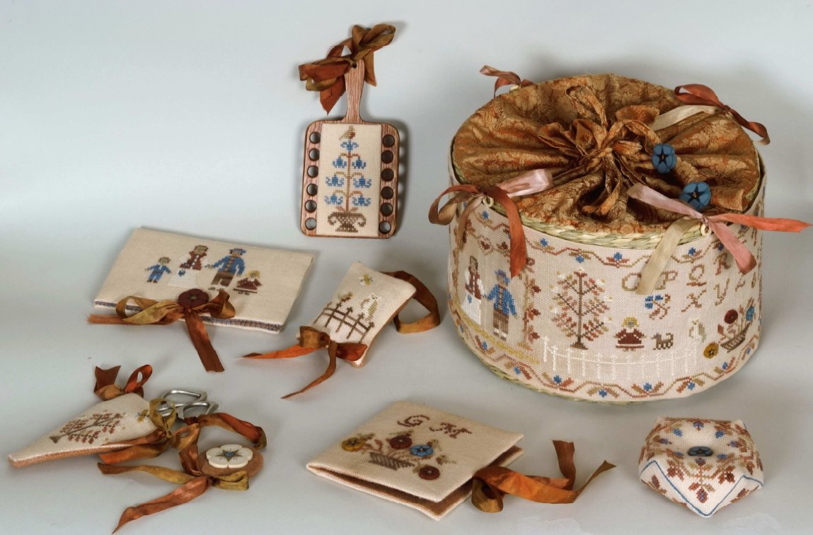 Clearance Giulia Punti Antichi A Basket For Kris ~ Stitcher's Sewing Set