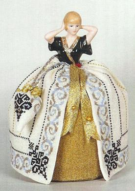 Clearance Giulia Punti Antichi  Alayne ~ 2012 New Year Pincushion Doll with 35 Count Linen