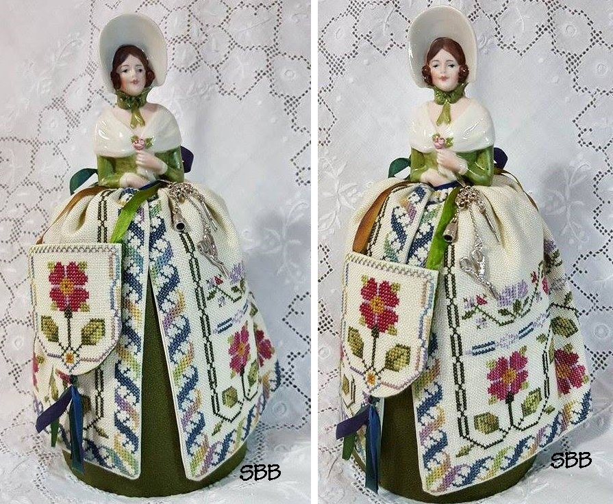 Clearance Giulia Punti Antichi Elizabeth ~ A Sampler Doll Pincushion Maiden