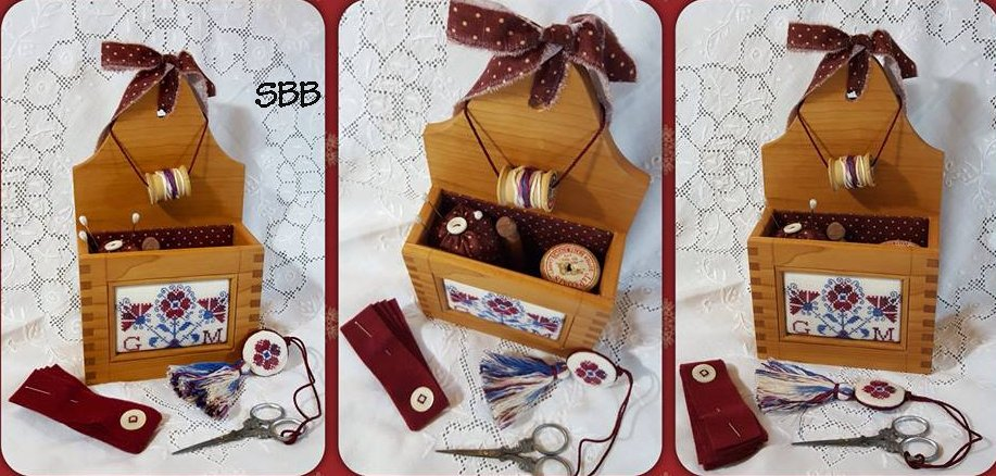 Clearance Giulia Punti Antichi Old Glory Sewing Box