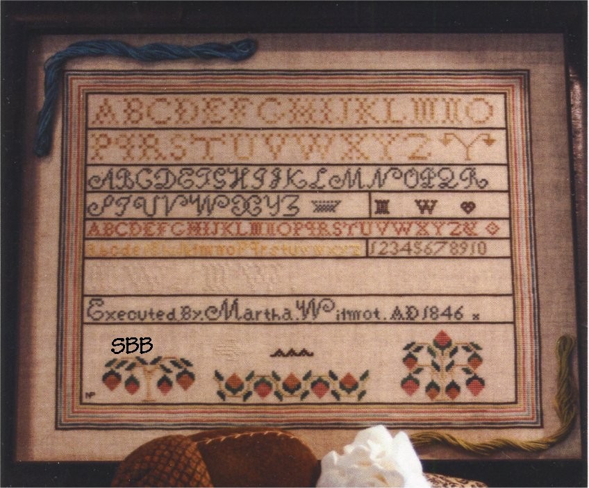 Gentle Art Designs Martha Wilmot Sampler 1846