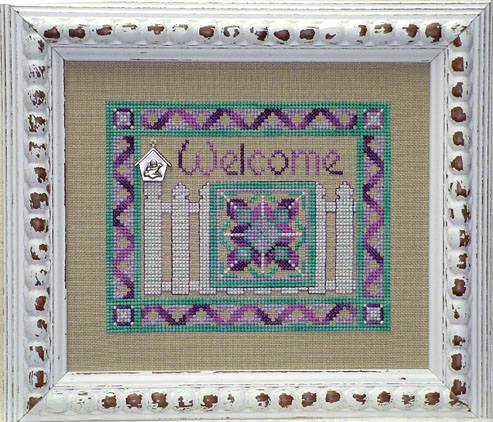 Clearance Handblessings Picket Fence Welcome