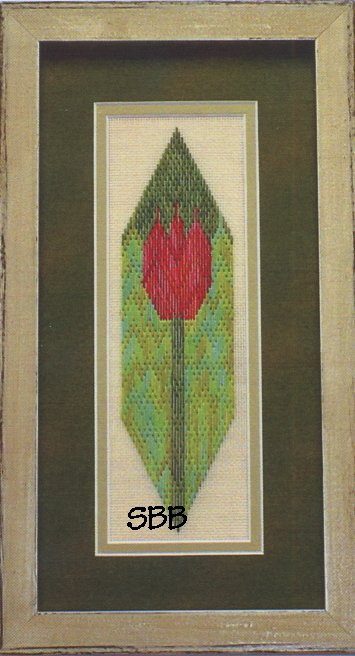Clearance Handblessings The Red Tulip ~ Counted Canvas