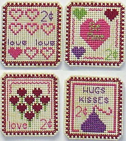 Clearance Handblessings Holiday Stamps ~ Valentine 2 Cent