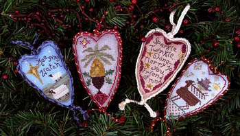 Clearance Homespun Elegance LTD  Merry Heart Ornaments I