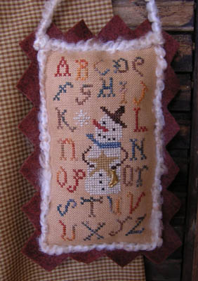 Clearance Homespun Elegance LTD  Sampler Snowman