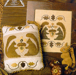 Clearance Homespun Elegance LTD  Woolly Squirrels Cross Stitch & Applique