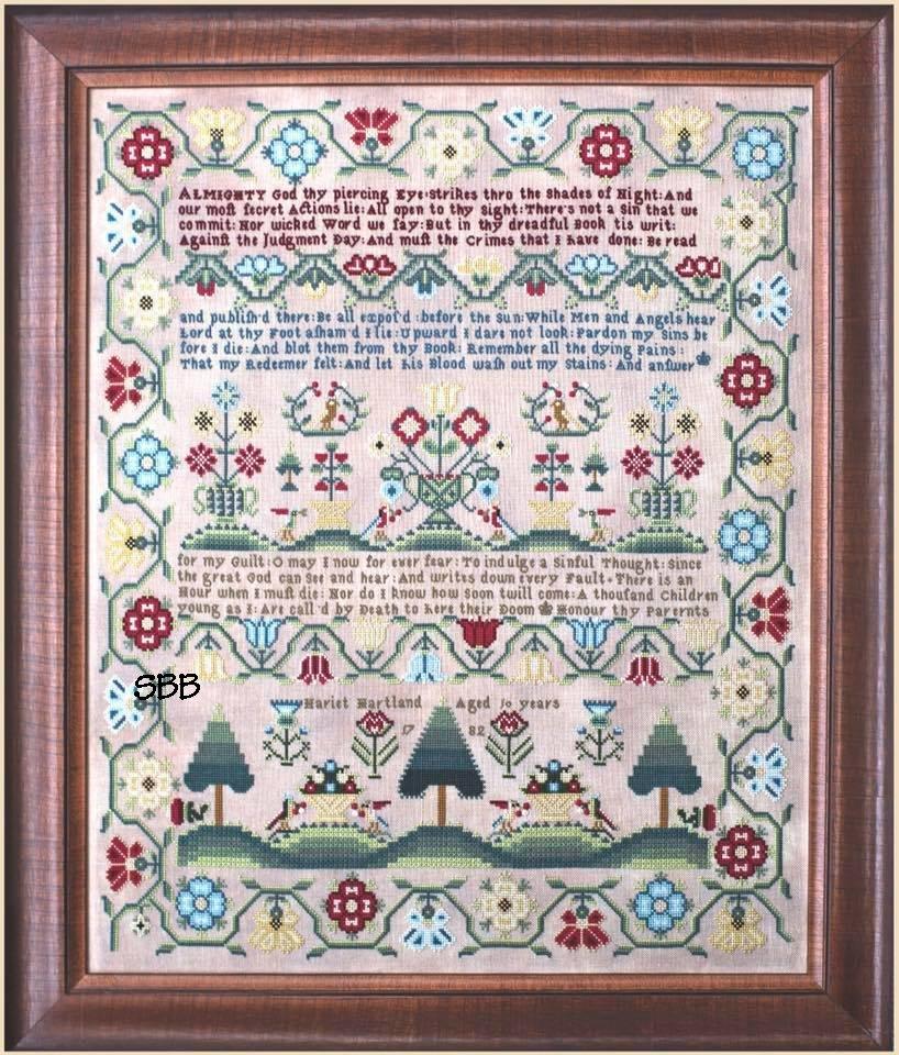 Hands Across The Sea Samplers Hariet Hartland 1782