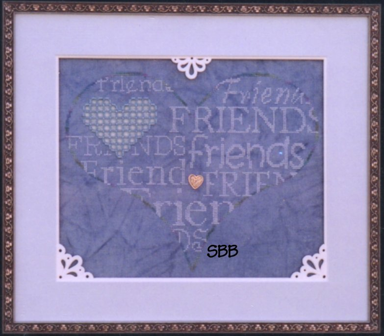 Haberdashery Designs Closeout#22 Friends with Best Friends Charm