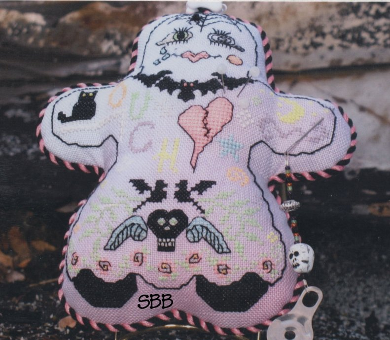 Haberdashery Designs Closeout#76 Voodoo Girl with Pins, Charms, Beads & Accessories