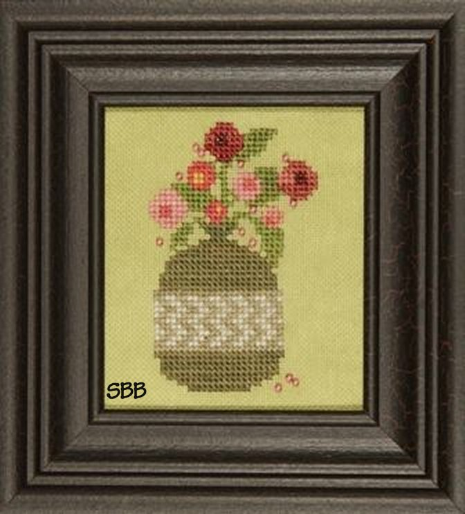 Heart In Hand Needleart Curio ~ Blooms with Charms