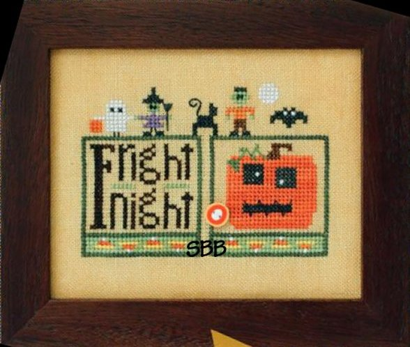 Heart In Hand Needleart Double Up ~ Halloween With Embellishments
