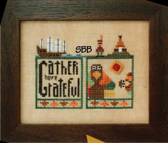Heart In Hand Needleart Double Up ~ Thanksgiving With Embellishments