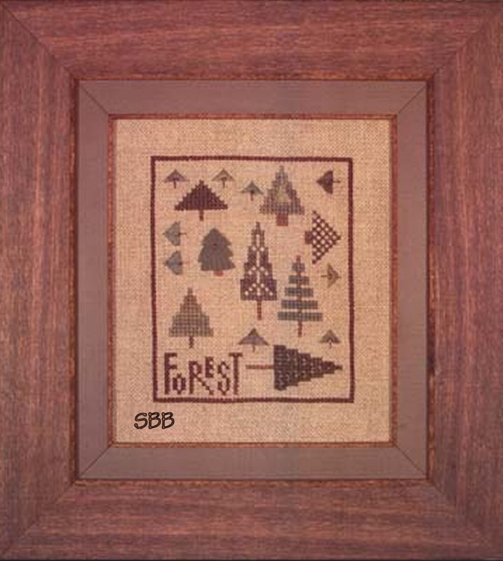 Heart In Hand Needleart Forest of Trees