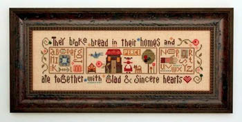 Heart In Hand Needleart Glad & Sincere Hearts - 1 (w/embellishments)