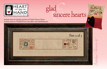 Heart In Hand Needleart Glad & Sincere Hearts - 2 (w/embellishments)