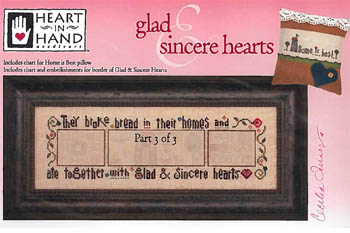 Heart In Hand Needleart Glad & Sincere Hearts - 3 (w/embellishments)