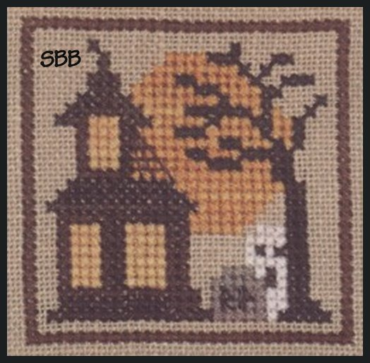 Heart In Hand Needleart Halloween Markings ~ Haunted House
