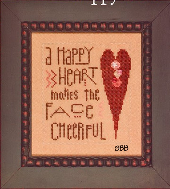 Heart In Hand Needleart Happy Heart With Buttons