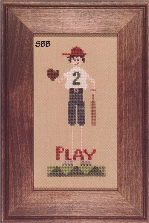 Heart In Hand Needleart Leggy ~ Ball Player