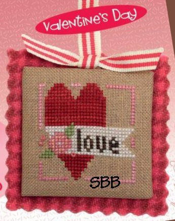 Heart In Hand Needleart Merry Making Mini ~ Floral Heart (w/embellishments)