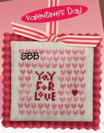 Heart In Hand Needleart Merry Making Mini ~ Yay For Love (w/embellishments)