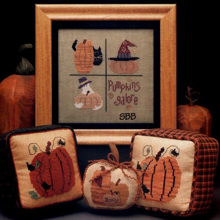 Heart In Hand Needleart Pumpkins Galore