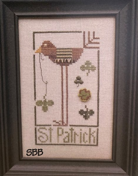Heart In Hand Needleart Wee One ~ St. Patrick Bird