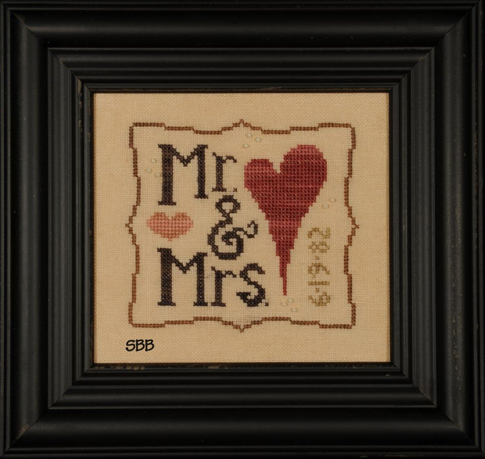 Heart In Hand Needleart Wee One ~ Mr. & Mrs. with Charms
