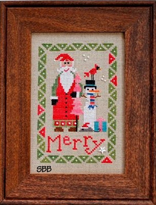 Heart In Hand Needleart Wee One ~ Santa 2015