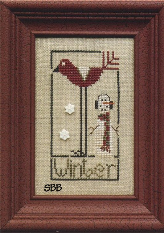 Heart In Hand Needleart Wee One ~ Winter Bird
