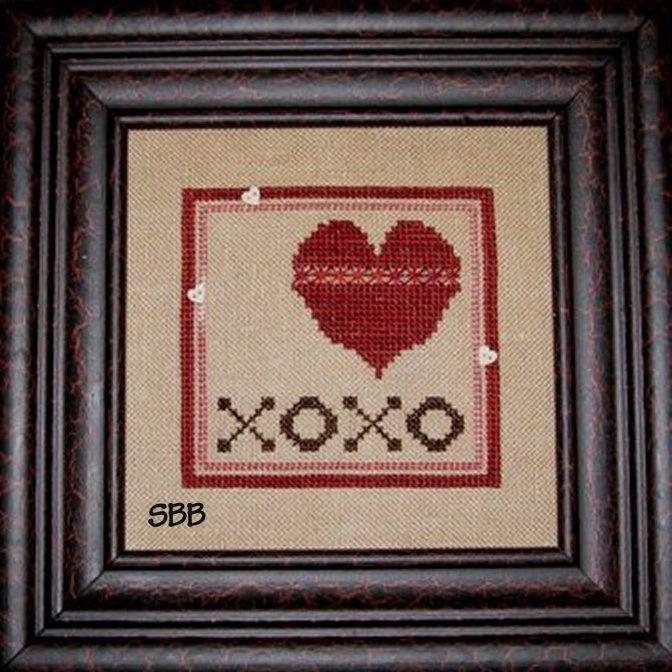 Heart In Hand Needleart XOXO