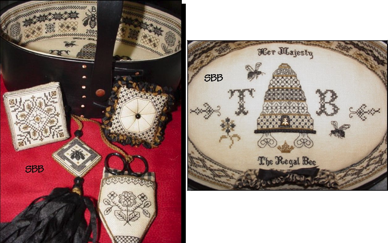 Heart's Ease Examplar Workes The Regal Bee Sewing Set