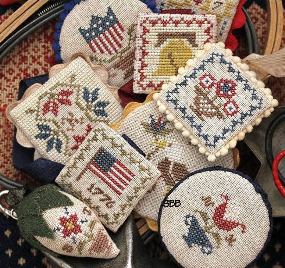 Heartstring Samplery Festive Little Fobs 5 - Americana Edition