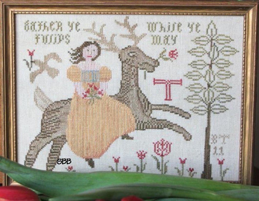 Heartstring Samplery Gather Ye Tulips