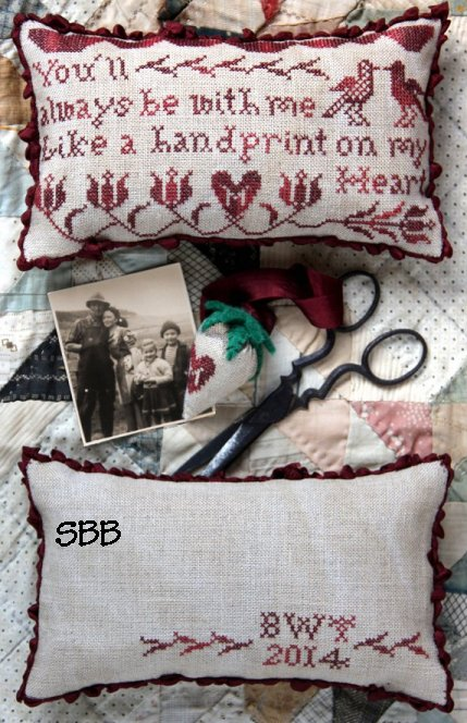 Heartstring Samplery Handprint On My Heart