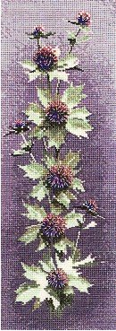 Heritage Crafts HC0470 John Clayton ~ Flower Panels ~ Sea Holly