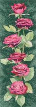 Heritage Crafts HC0879 John Clayton ~ Flower Panels ~ Pink Roses